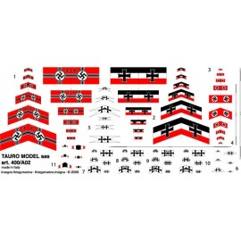 Bandiere in carta Tauro Model TU400A02