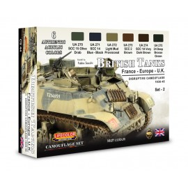 Colori Acrilici Lifecolor per carri inglesi WWII CS44